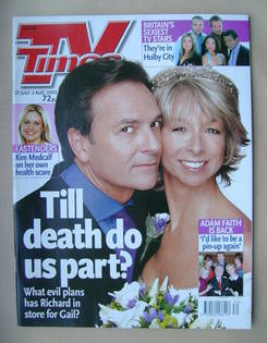 <!--2002-07-27-->TV Times magazine - Brian Capron and Helen Worth cover (27