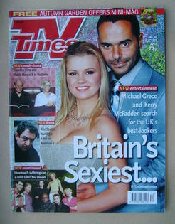 <!--2002-08-24-->TV Times magazine - Kerry McFadden and Michael Greco cover