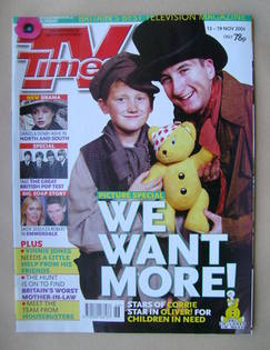 <!--2004-11-13-->TV Times magazine - Sam Aston and Andrew Whyment cover (13