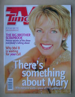 <!--2001-07-21-->TV Times magazine - Mary Nightingale cover (21-27 July 200