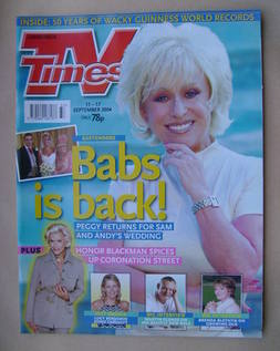 <!--2004-09-11-->TV Times magazine - Barbara Windsor cover (11-17 September