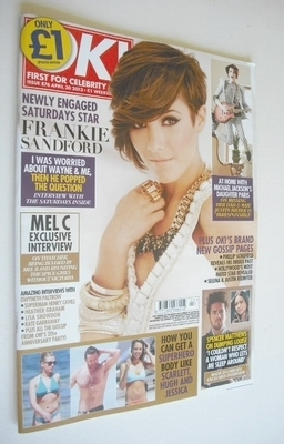 <!--2013-04-30-->OK! magazine - Frankie Sandford cover (30 April 2013 - Iss