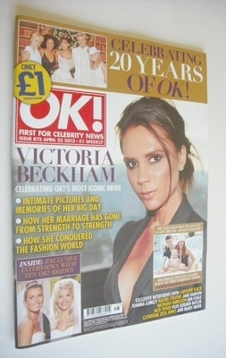 <!--2013-04-23-->OK! magazine - Victoria Beckham cover (23 April 2013 - Iss
