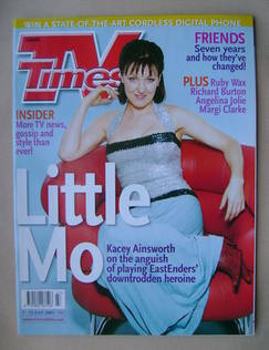<!--2001-07-07-->TV Times magazine - Kacey Ainsworth cover (7-13 July 2001)