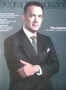 <!--2009-05-02-->Telegraph magazine - Tom Hanks cover (2 May 2009)