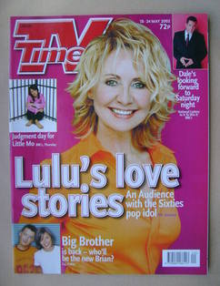 <!--2002-05-18-->TV Times magazine - Lulu cover (18-24 May 2002)