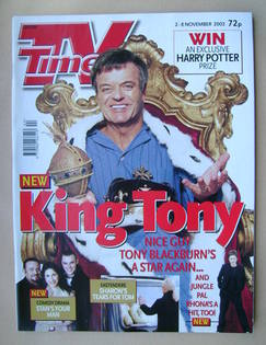 <!--2002-11-02-->TV Times magazine - Tony Blackburn cover (2-8 November 200