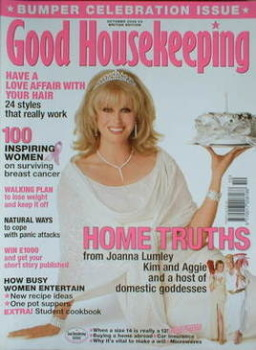 Good Housekeeping magazine - Joanna Lumley cover (October 2004)