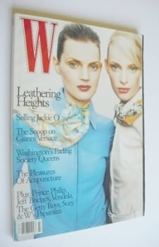 W magazine - March 1996 - Guinevere Van Seenus and Amy Wesson cover