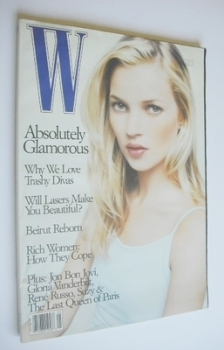 W magazine - May 1996 - Kate Moss cover