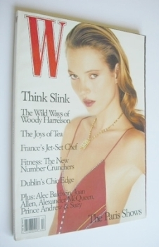 W magazine - December 1996 - Kate Moss cover