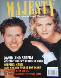 <!--1993-09-->Majesty magazine - David Linley and Serena Stanhope cover (Se