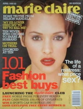 <!--1995-04-->British Marie Claire magazine - April 1995