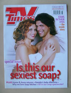 <!--2001-07-14-->TV Times magazine - Samantha Giles and Gary Turner cover (