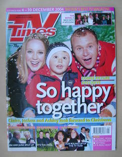<!--2004-12-04-->TV Times magazine - Julia Haworth, Ben Beresford and Steve