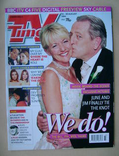 <!--2004-08-14-->TV Times magazine - Trudie Goodwin and Mark Wingett cover