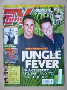 <!--2004-11-20-->TV Times magazine - Ant and Dec cover (20-26 November 2004