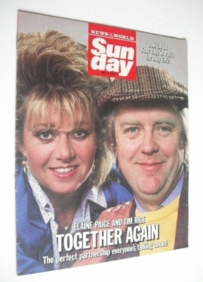 <!--1986-05-04-->Sunday magazine - 4 May 1986 - Elaine Paige and Tim Rice c