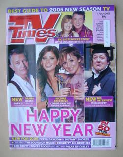<!--2005-01-01-->TV Times magazine - Happy New Year cover (1-7 January 2005