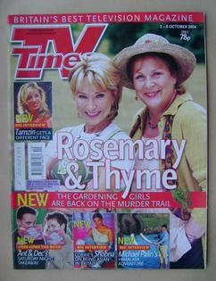 <!--2004-10-02-->TV Times magazine - Felicity Kendal and Pam Ferris cover (