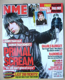 <!--2006-04-15-->NME magazine - Bobby Gillespie cover (15 April 2006)