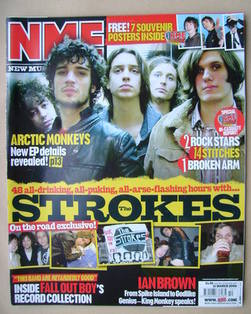 <!--2006-03-11-->NME magazine - The Strokes cover (11 March 2006)