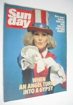 Sunday magazine - 22 November 1981 - Fiona Fullerton cover
