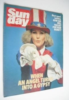 Sunday magazine - 22 November 1981 - Fiona Fullerton cover