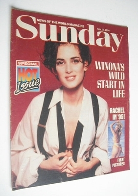 <!--1994-06-12-->Sunday magazine - 12 June 1994 - Winona Ryder cover