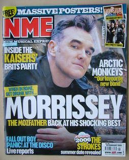 <!--2006-02-25-->NME magazine - Morrissey cover (25 February 2006)