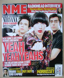 NME magazine - Yeah Yeah Yeahs cover (25 March 2006)