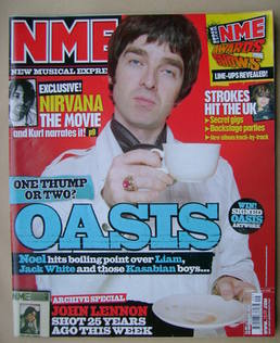 <!--2005-12-10-->NME magazine - Noel Gallagher cover (10 December 2005)
