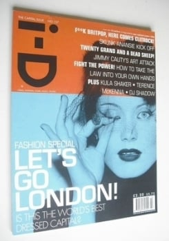 i-D magazine - Let's Go London cover (October 1996 - Issue 157)