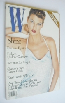 W magazine - February 1997 - Linda Evangelista cover