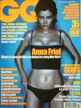 British GQ magazine - April 1998 - Anna Friel cover