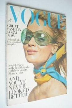 British Vogue magazine - 15 April 1968 - Celia Hammond cover