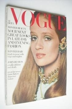 British Vogue magazine - 1 October 1968 - Celia Hammond cover