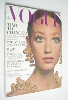 British Vogue magazine - 1 September 1968 - Marisa Berenson cover