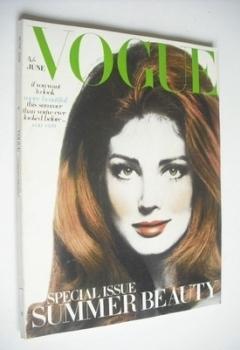 British Vogue magazine - June 1968 - Gayle Hunnicutt cover