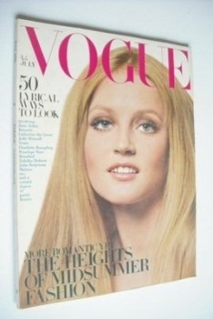 British Vogue magazine - July 1968 - Ingrid Brett cover