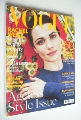 <!--2012-07-->British Vogue magazine - July 2012 - Rachel Weisz cover