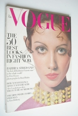 <!--1968-11-->British Vogue magazine - November 1968 - Moyra Swann cover