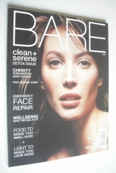 BARE magazine - January/February 2001 - Issue 3 - Christy Turlington cover