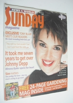 <!--2000-03-19-->Sunday magazine - 19 March 2000 - Winona Ryder cover