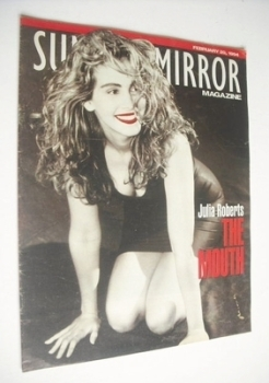Sunday Mirror magazine - Julia Roberts cover (20 February 1994)