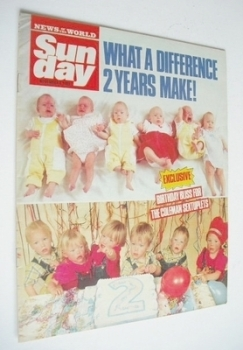 <!--1988-11-06-->Sunday magazine - 6 November 1988 - The Coleman Sextuplets cover