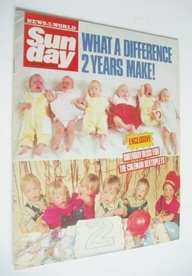 <!--1988-11-06-->Sunday magazine - 6 November 1988 - The Coleman Sextuplets