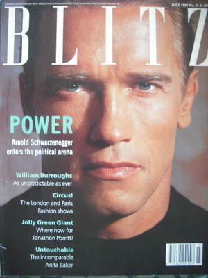 <!--1990-07-->Blitz magazine - July 1990 - Arnold Schwarzenegger cover