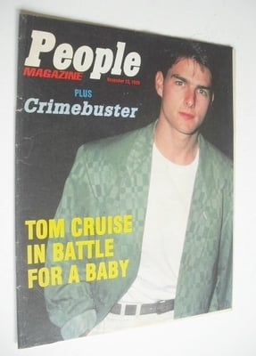 <!--1989-11-12-->People magazine - 12 November 1989 - Tom Cruise cover