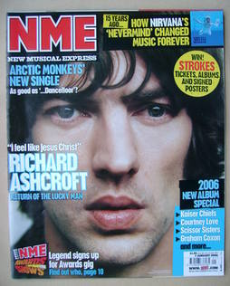 <!--2006-01-07-->NME magazine - Richard Ashcroft cover (7 January 2006)